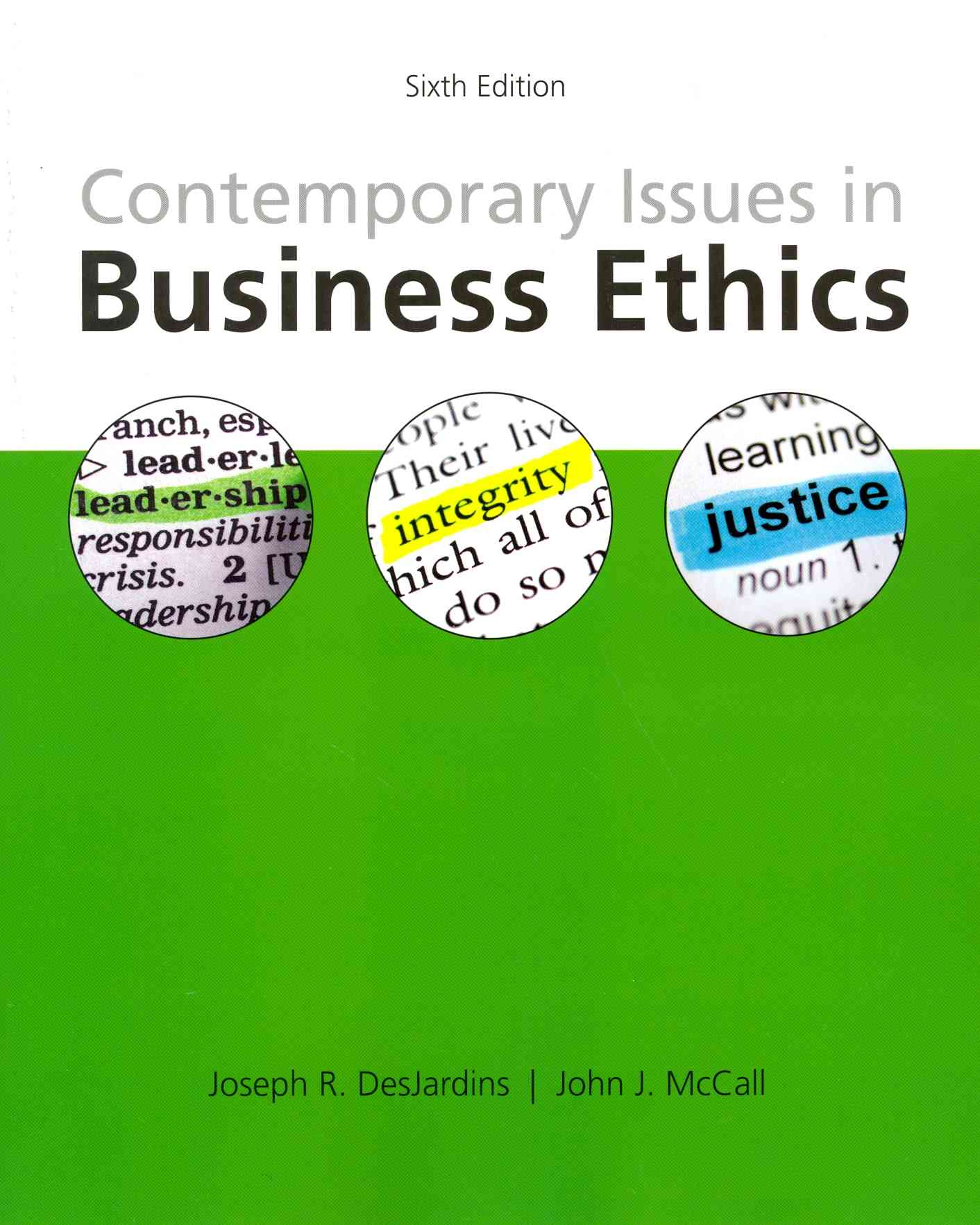 Contemporary Issues in Business Ethics By Desjardins, Joseph R./ McCall, John J.